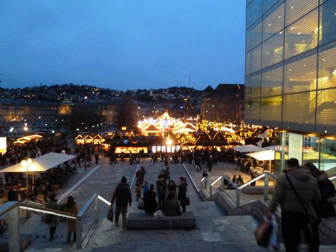 Stuttgart Christmas Market seen from Kleiner Schlossplatz