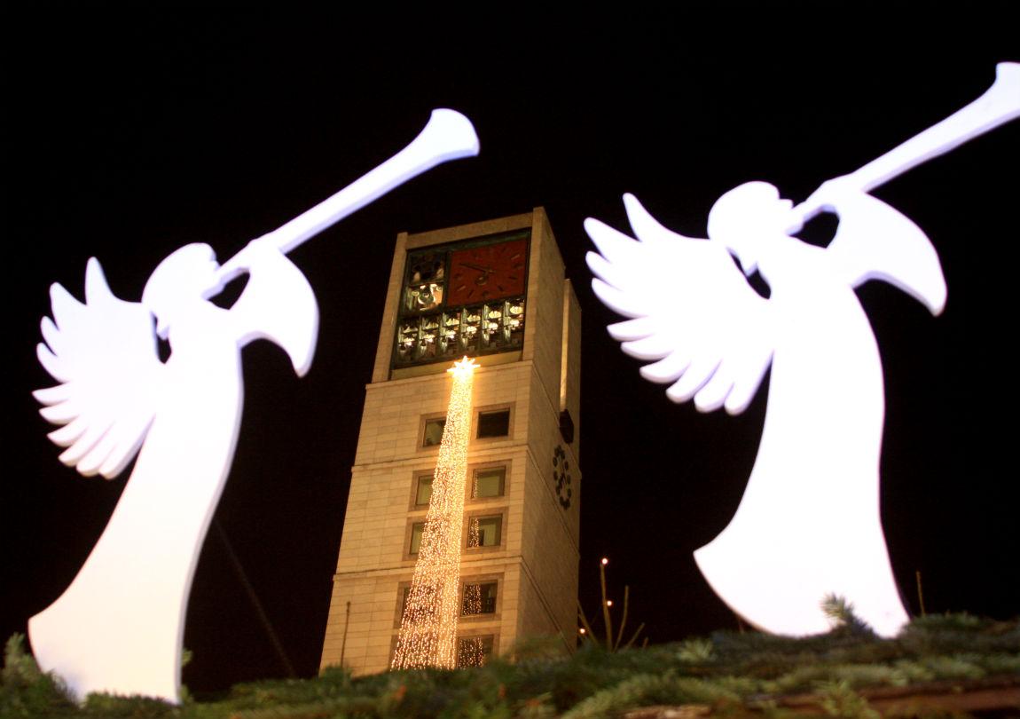 Two angels on Marktplatz