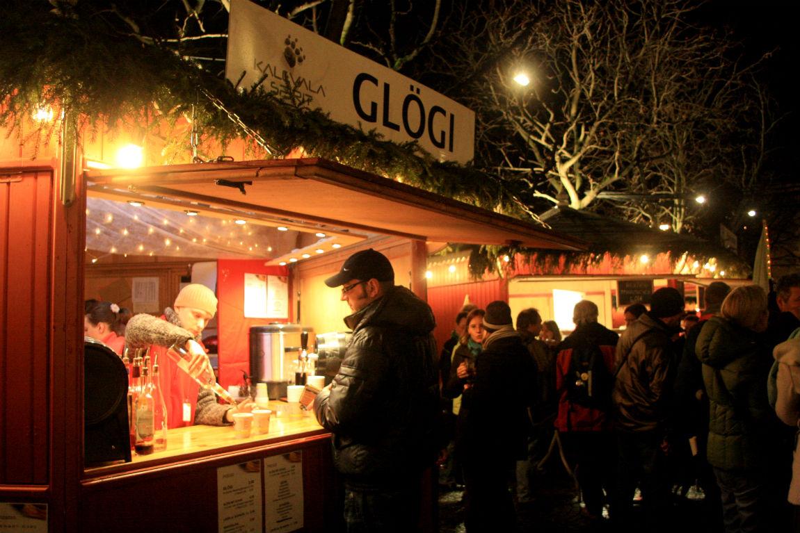 Enjoying Glögli on the Finnisch Christmas Market in Stuttgart