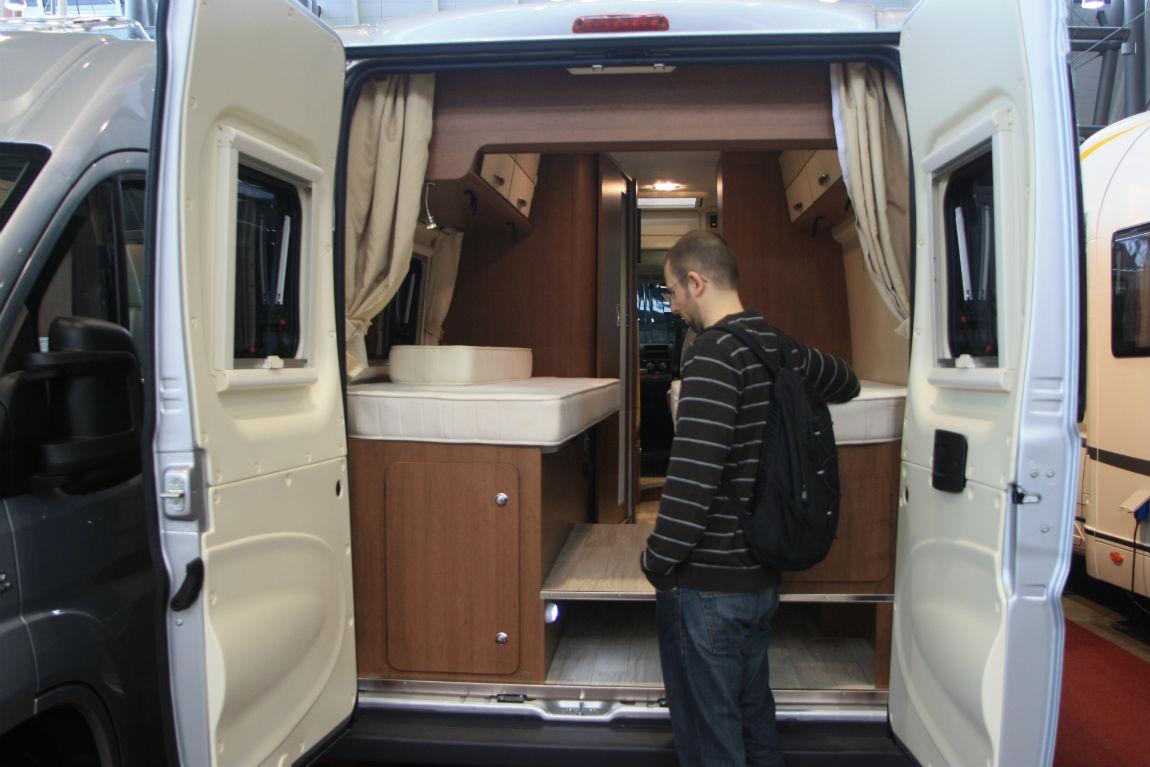 Moritz checking a campervan
