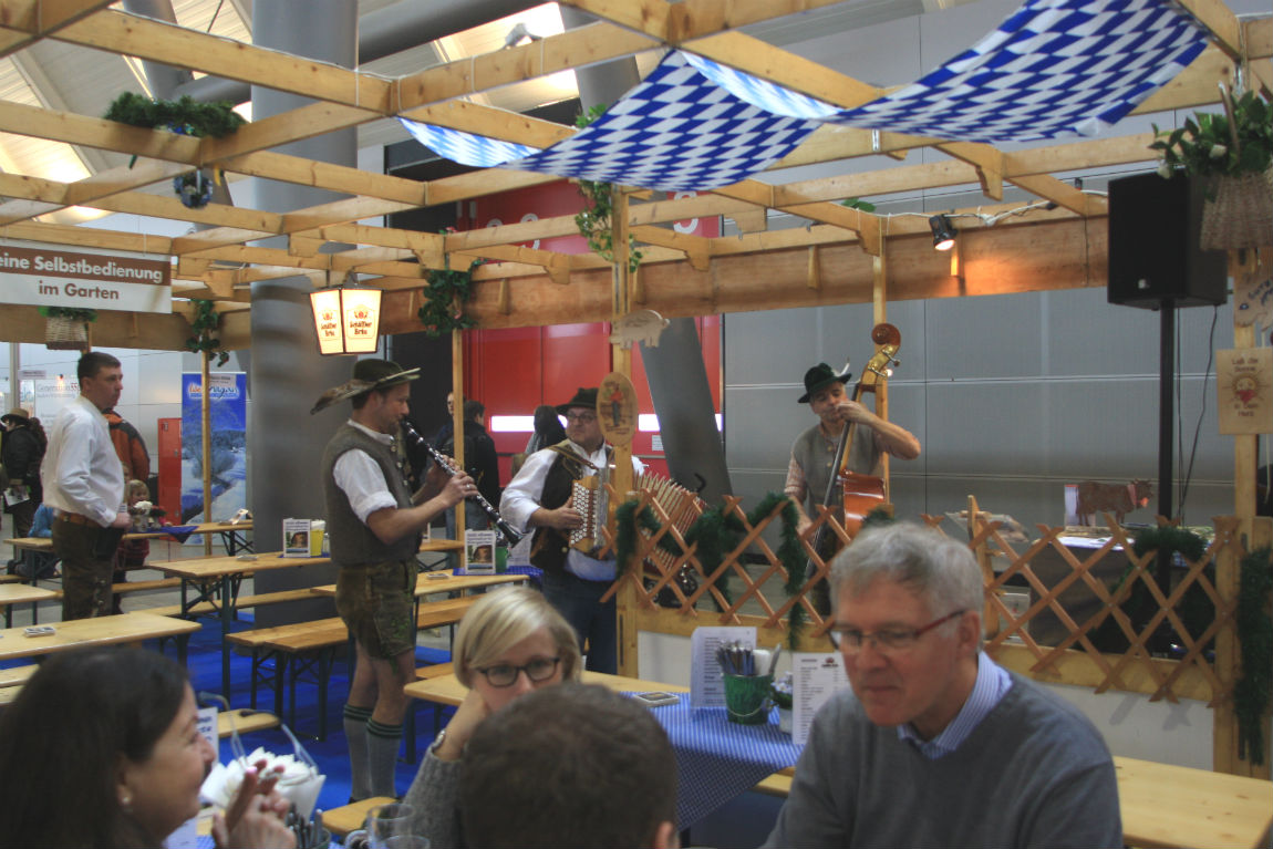 Beer garden with traditional music