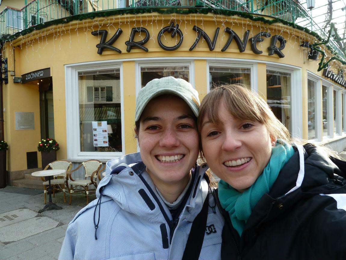Outside Café Krönner in Garmisch