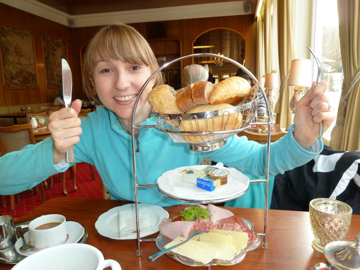 Regular breakfast at Café Krönner