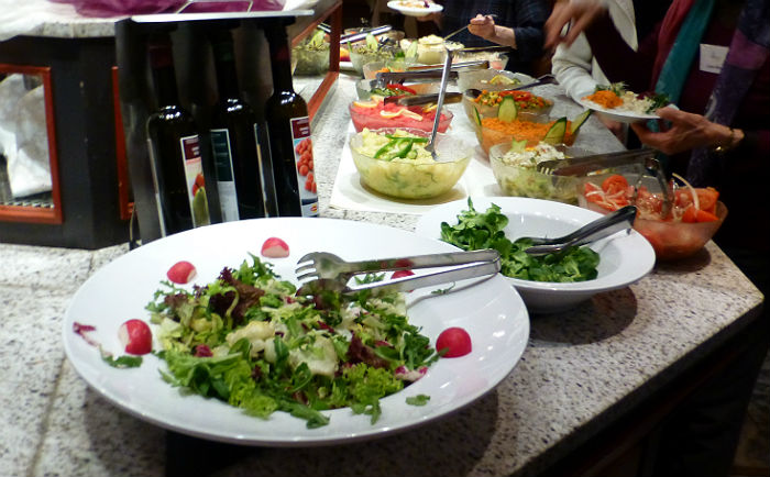 Salad buffet at Hotel Sonnengarten