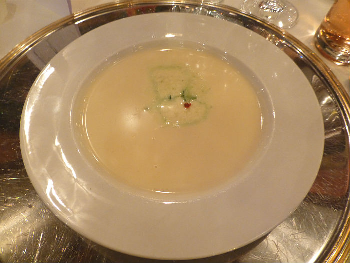 White tomato soup at Hotel Sonnengarten in Bad Wörishofen