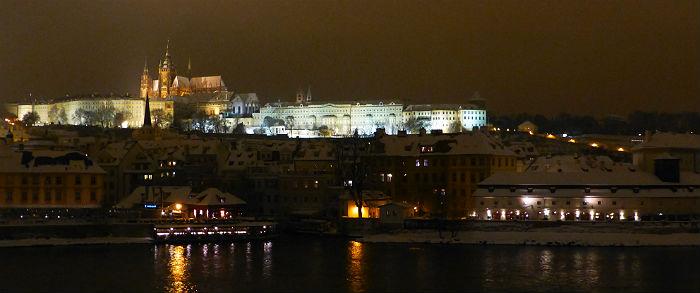 Prague castle by night