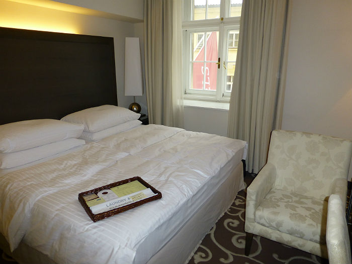 Our room in the Grandhotel Bohemia in Prague