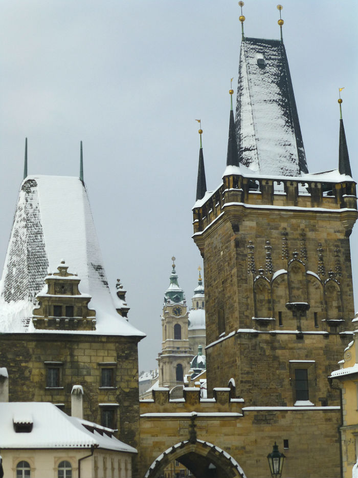 Towers of Kleinseite in Prague