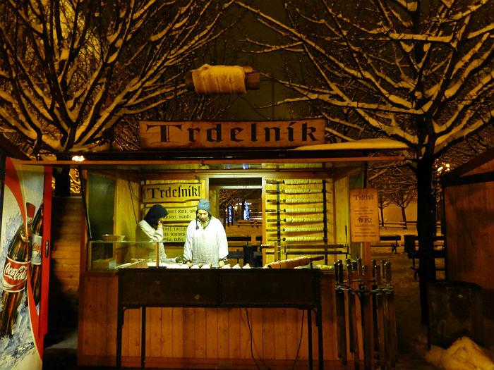 Trdelnik stand in Prague