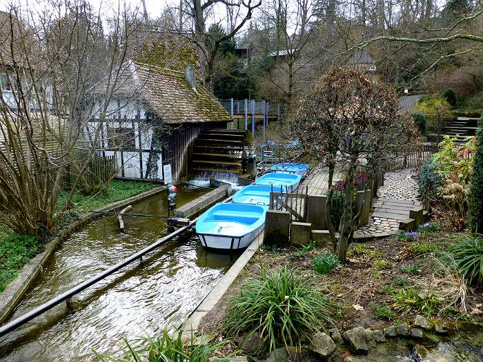 Boats in Märchengarten Ludwigsburg