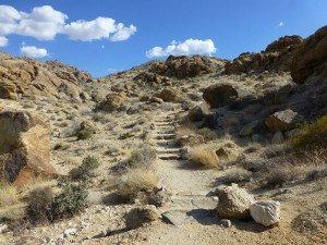 Starting the trail towards the 49 Palms Oasis