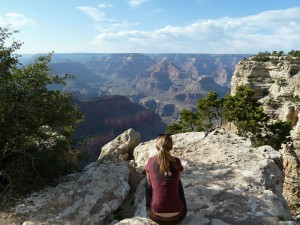 Enjoying the view of the Grand Canyon