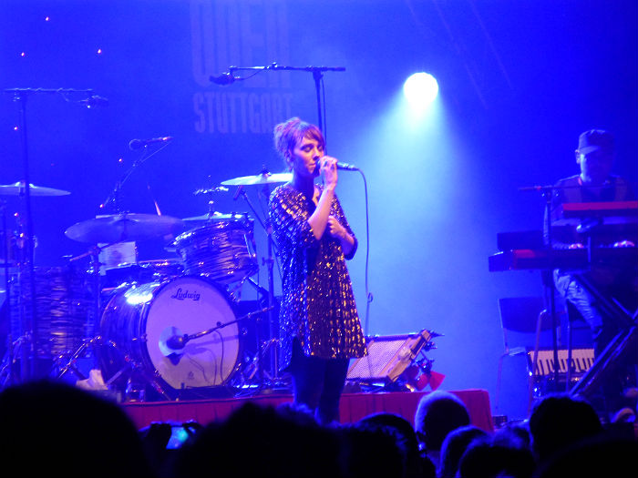 Zaz singing her last song at Jazz Open Stuttgart 2013