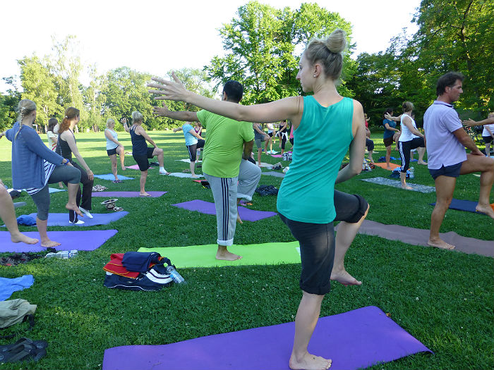 "Yoga at ""Sport im Park"" at Killesberg, Stuttgart"