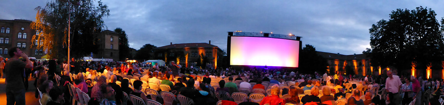 Panorama of Open Air Cinema in Ludwigsburg