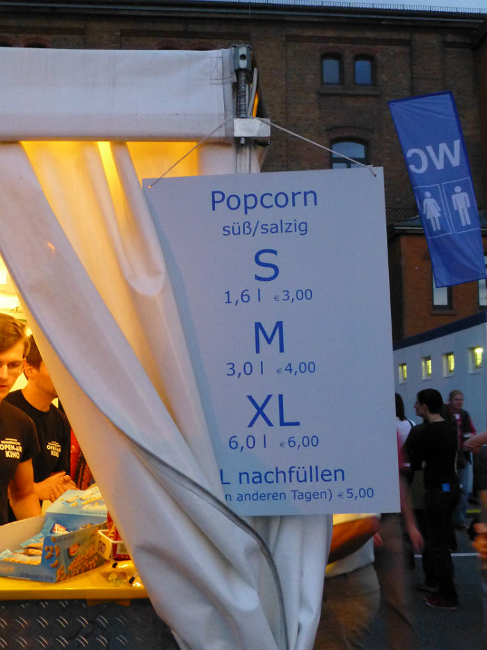 3 liters of popcorn, please...