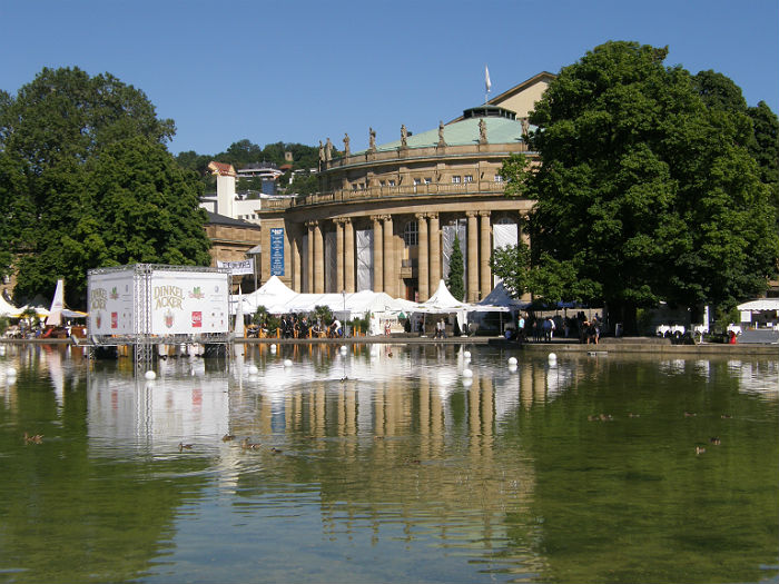 Sommerfest in front of the opera house in Stuttgart