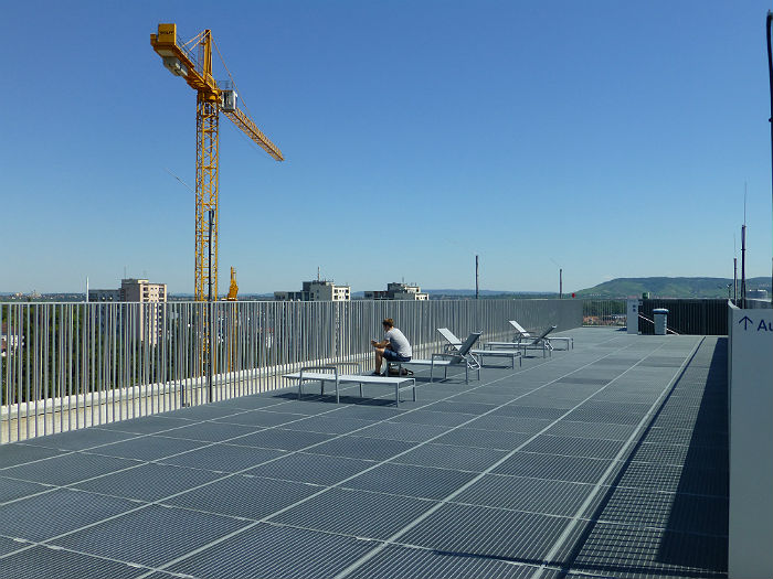 New sundeck on top of the City Library Stuttgart