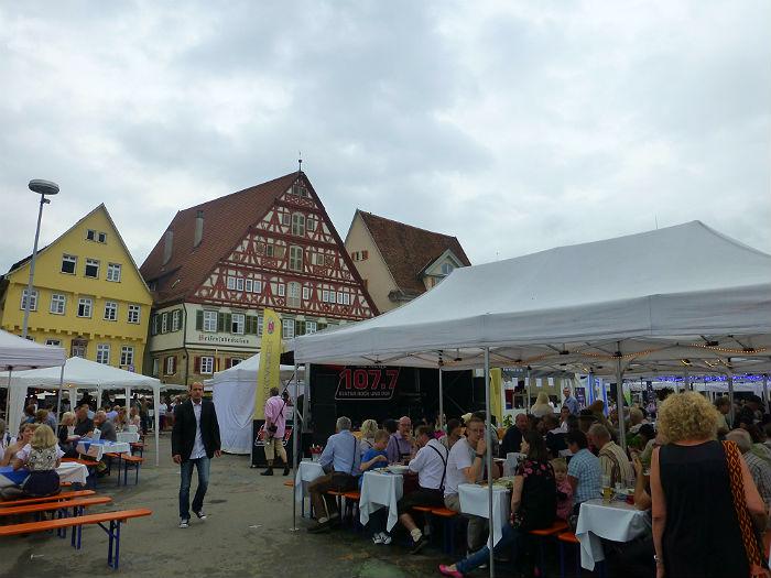 Zwiebelfest at the market square in Esslingen