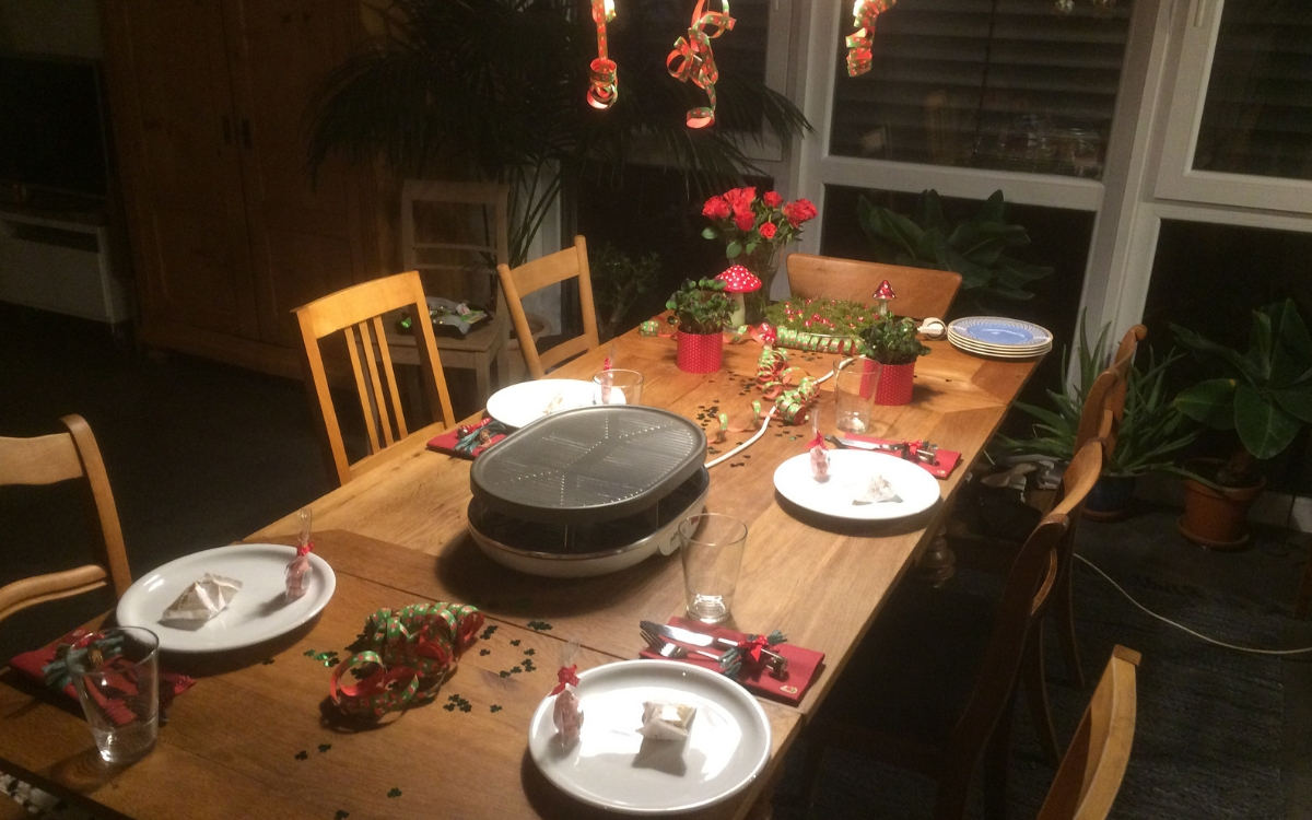 New Years Eve in Germany Raclette