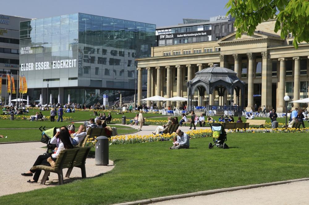 Tour Stuttgart on a sunny fall day.