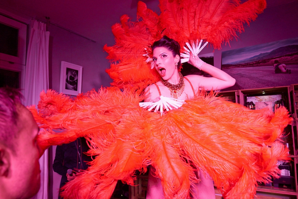 Burlesqueshow at Frau Blum on Stuttgartnacht.