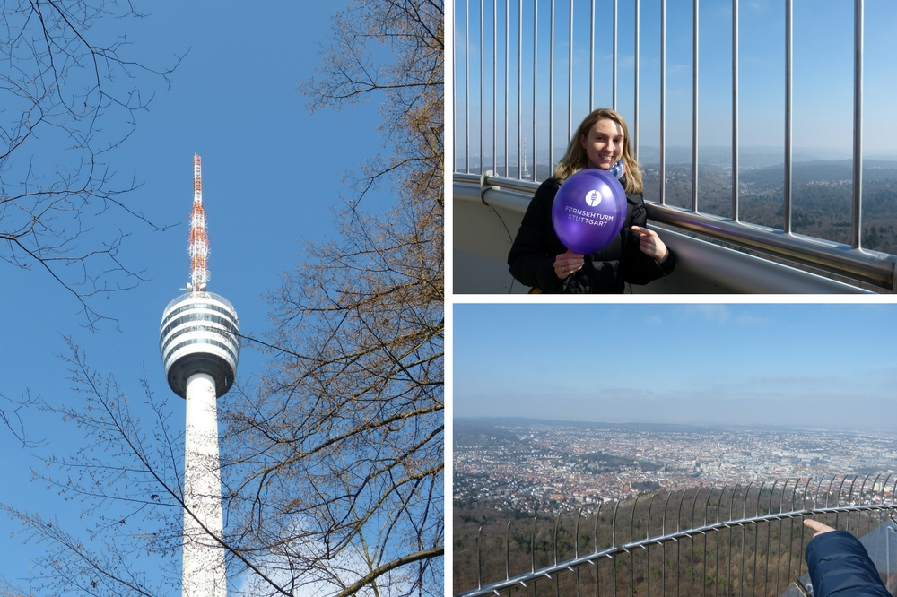 On top of Fernsehturm on a sunny fall day in Stuttgart.