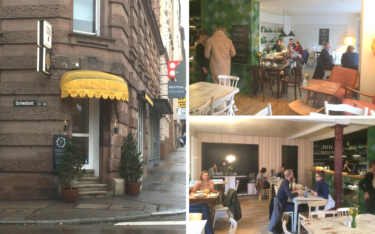 Lumen in Stuttgart-West is a comfy coffee shop/restaurant with seats for 70 people.