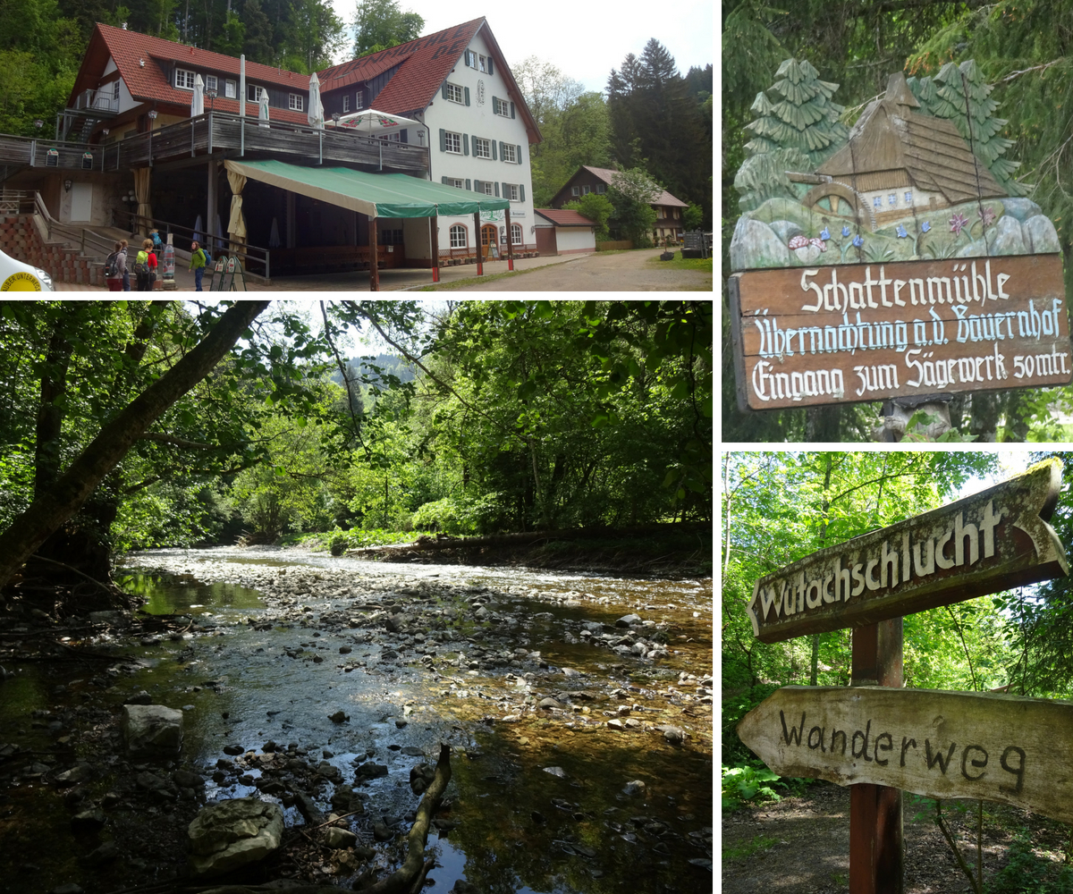 Start your hike through Wutach gorge at Schattenmühle