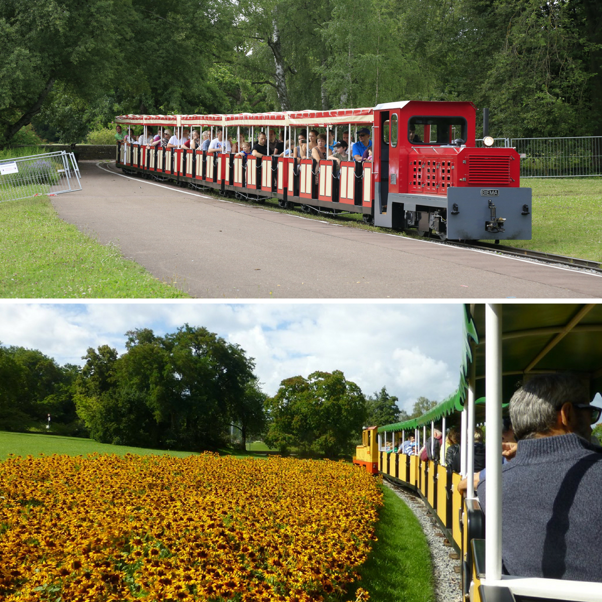 Taking the mini train through Höhenpark Killesberg is fun for the whole family.