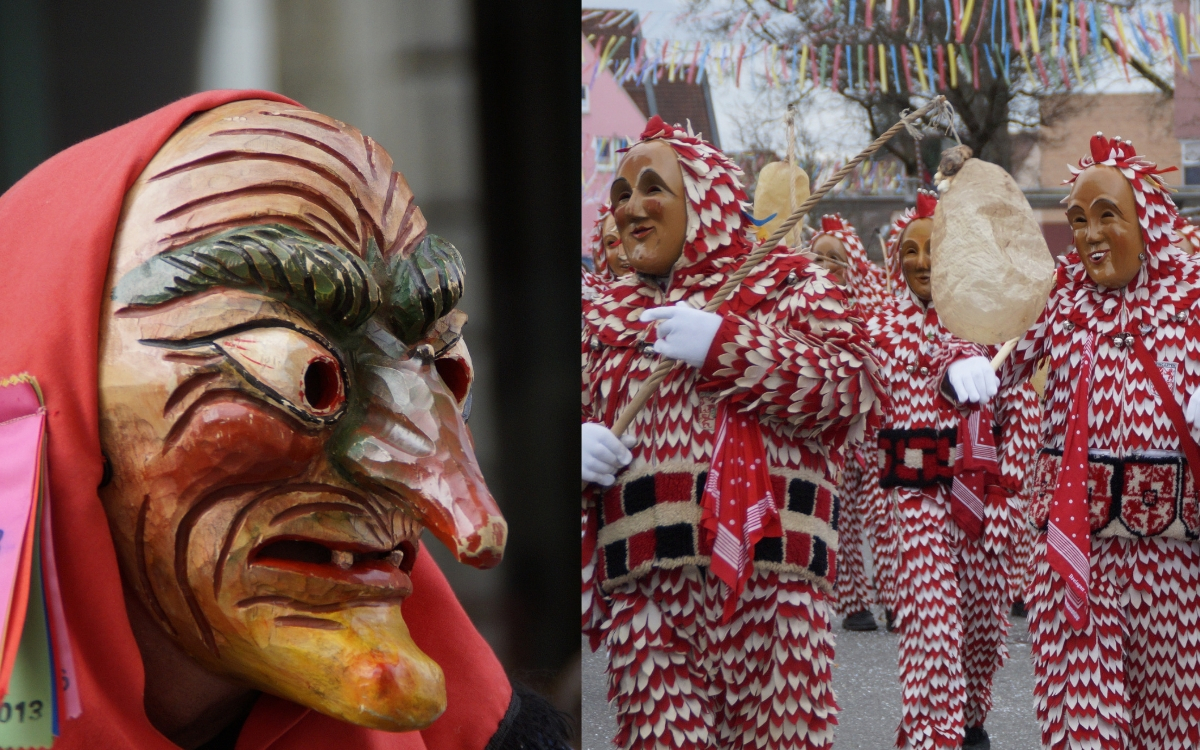 Fasching in Stuttgart masks