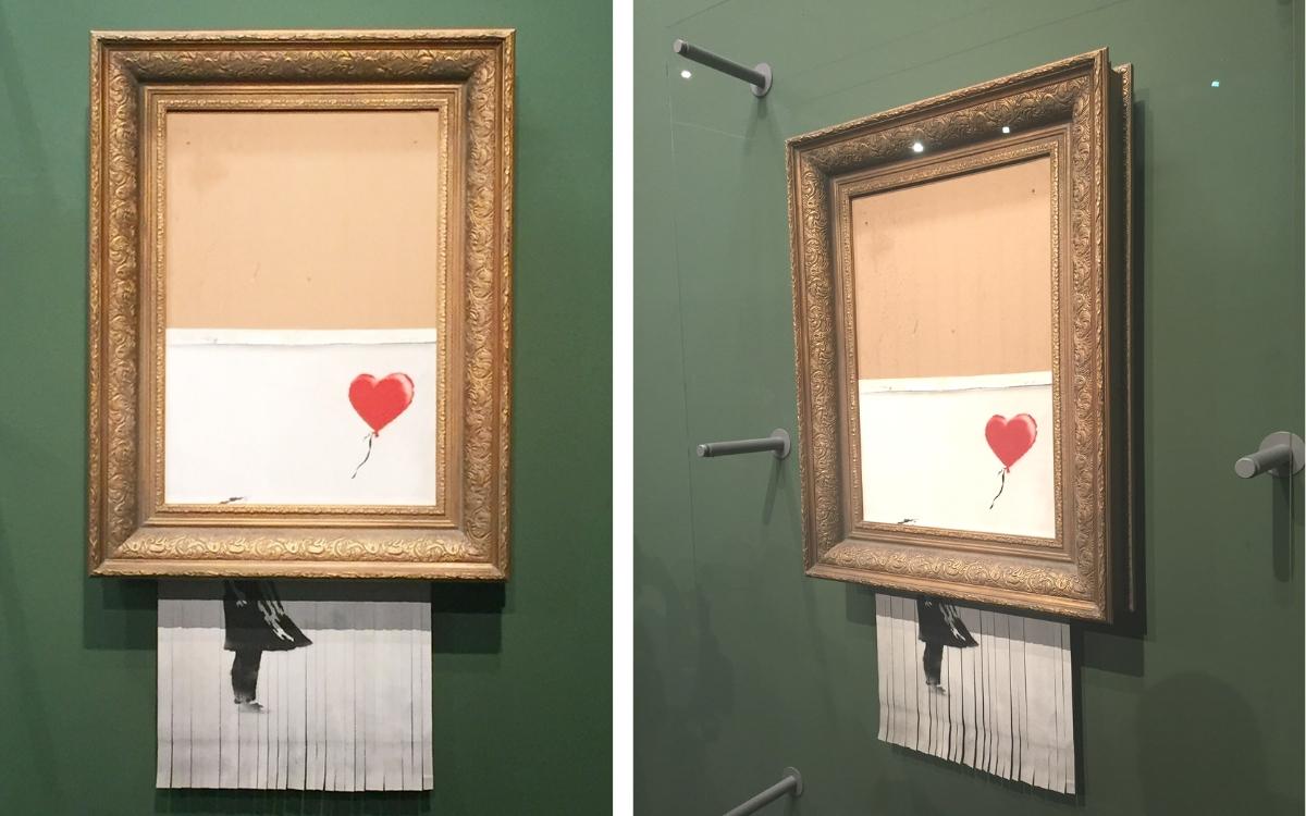 sell banksy love is in the bin original