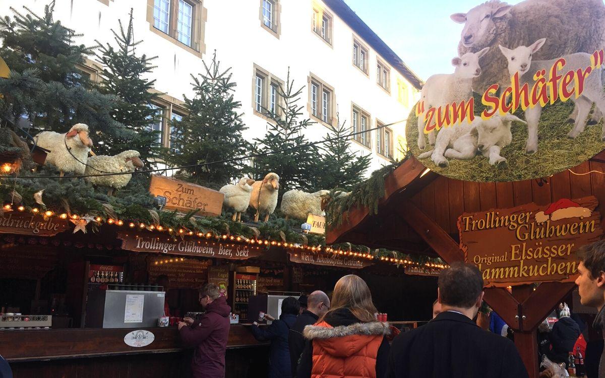 Stuttgart Christmas market 2019 Zum Schäfer best Glühwein