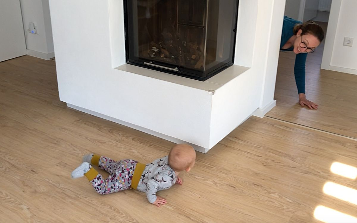 hide and seek with baby